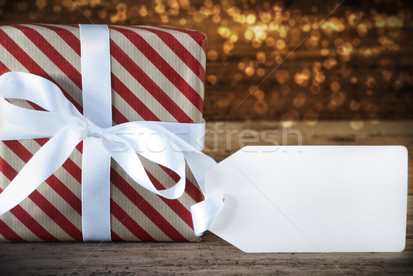 Atmospheric Christmas Gift With Copy Space Stock photo © Nelosa