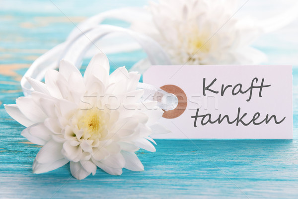 Label with Kraft Tanken Stock photo © Nelosa