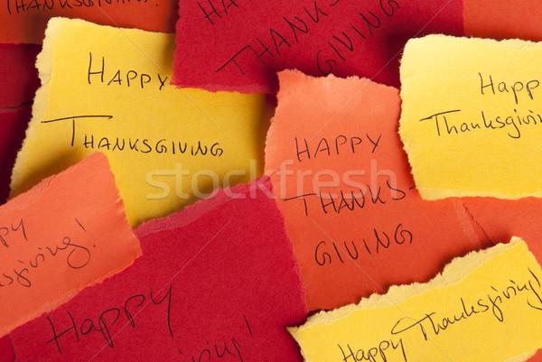 Glücklich Danksagung viele farbenreich Worte Liebe Stock foto © Nelosa