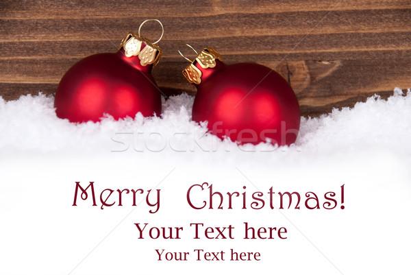 Natal neve espaço texto dois Foto stock © Nelosa