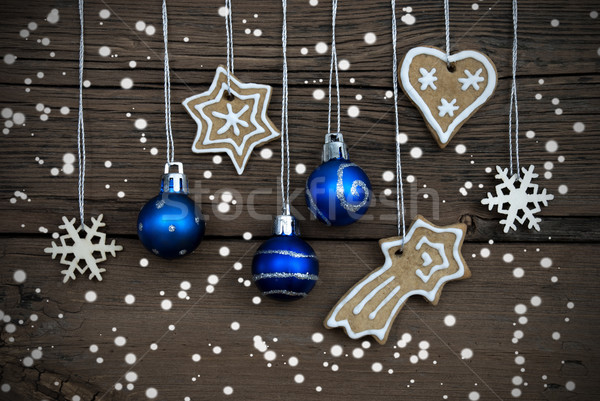 Christmas Decorations Hanging in the Snow Stock photo © Nelosa