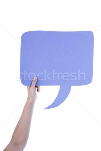 Light Purple Empty Speech Balloon Stock photo © Nelosa