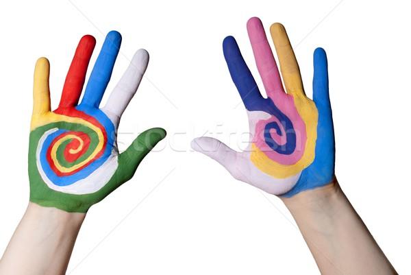 colorful hands Stock photo © Nelosa