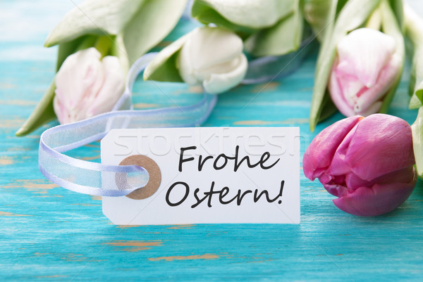Tag with Frohe Ostern Stock photo © Nelosa