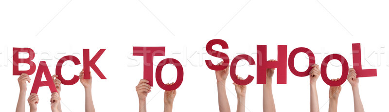 Hands Holding Back to School Stock photo © Nelosa