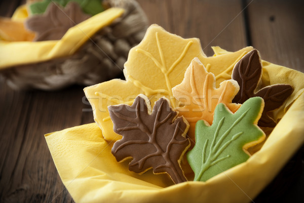 Autumnal Looking Biscuits Stock photo © Nelosa