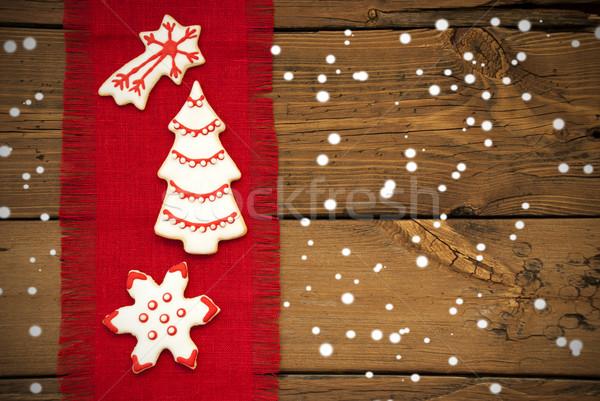 Cookies on Drapery with Snow Stock photo © Nelosa