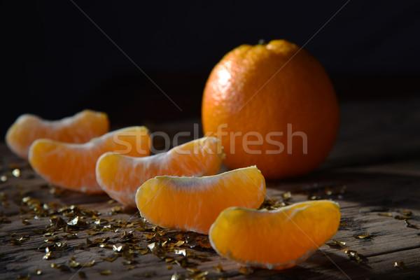 Decoratie oranje vruchten gouden schitteren Stockfoto © Nelosa