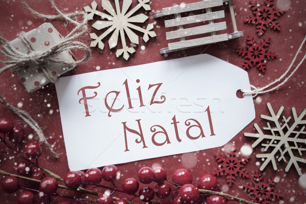 Stock fotó: Nosztalgikus · dekoráció · címke · vidám · karácsony · ahogy