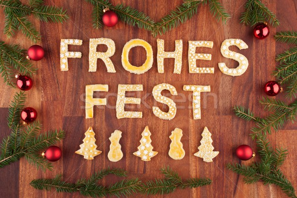 Frohes Fest Stock photo © Nelosa