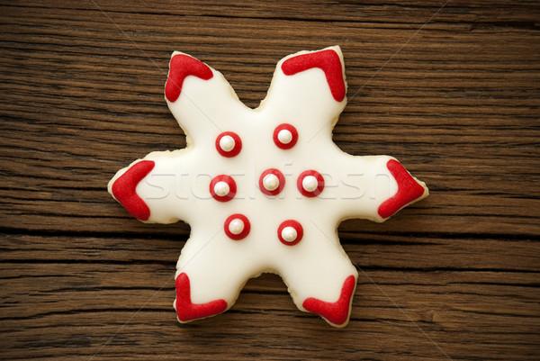 Snowflake Cookie on Wood IV Stock photo © Nelosa