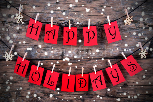 Wintry Happy Holiday Tags Stock photo © Nelosa