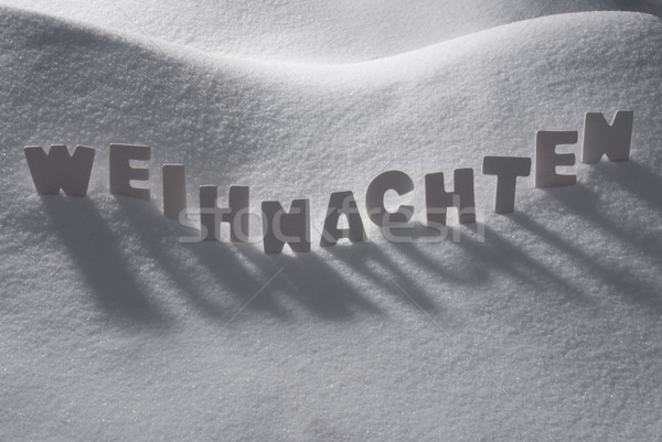 White Word Weihnachten Means Christmas On Snow Stock photo © Nelosa