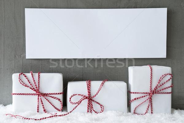 White Gift, Copy Space Stock photo © Nelosa