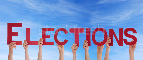 People Holding Elections in the Sky Stock photo © Nelosa