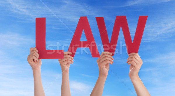 People Holding Law in the Sky Stock photo © Nelosa