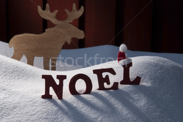 Card With Moose And Snow, Noel Mean Christmas Stock photo © Nelosa