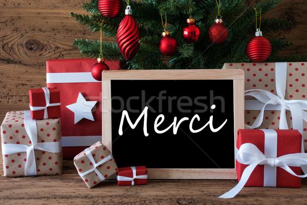 Színes karácsonyfa köszönjük karácsonyi üdvözlet évszakok üdvözlet Stock fotó © Nelosa
