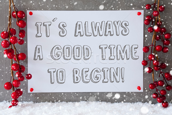 Label, Snowflakes, Christmas Decoration, Quote Always Time To Be Stock photo © Nelosa