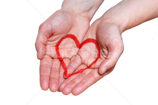 hand with a heart Stock photo © Nelosa