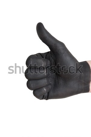 black thumb up Stock photo © Nelosa