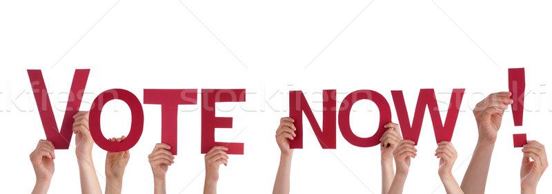 People Holding Vote Now Stock photo © Nelosa