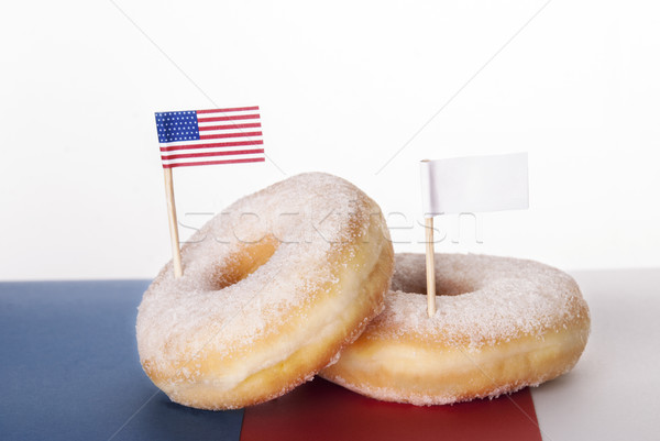 Donuts with Flags Stock photo © Nelosa