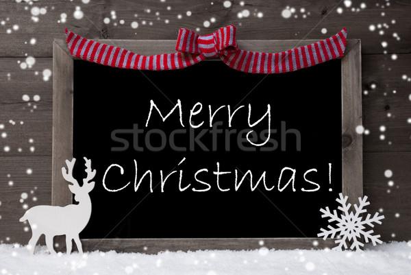 Grigio carta fiocchi di neve cappio allegro Natale Foto d'archivio © Nelosa