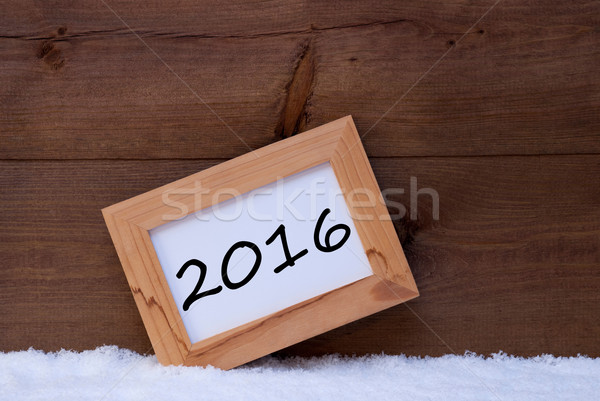 Christmas Card With Picture Frame, 2016 Stock photo © Nelosa