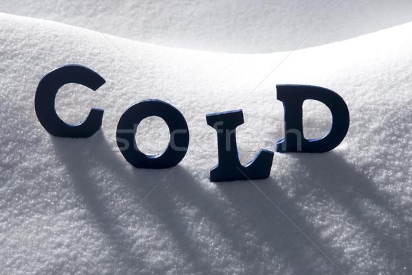 Blue Word Cold On Snow Stock photo © Nelosa