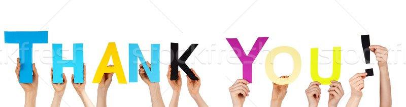 手 ありがとう 多くの 単語 幸せ ストックフォト © Nelosa
