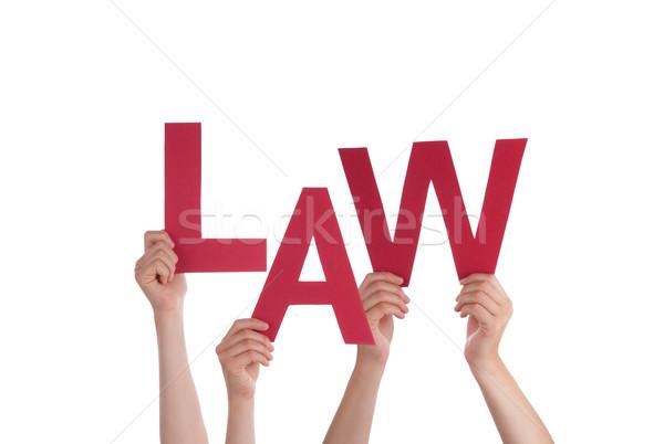 Hands Holding Law Stock photo © Nelosa