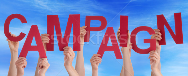 Muitos pessoas mãos vermelho palavra Foto stock © Nelosa
