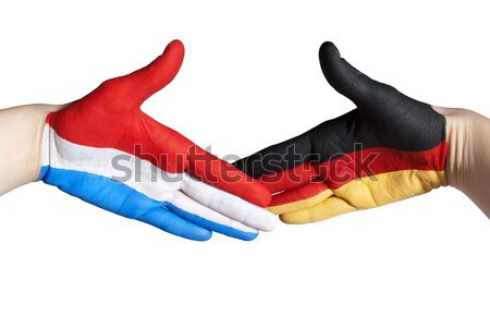 handshake between germany and czech republic Stock photo © Nelosa
