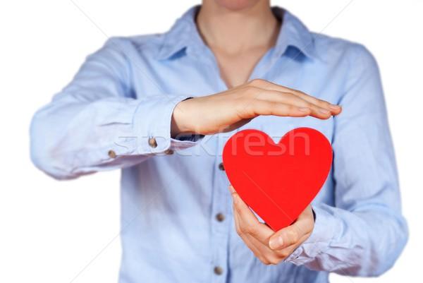Kişi kalp el eller yalıtılmış Stok fotoğraf © Nelosa