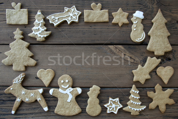 Decorated Ginger Breads on Wood Stock photo © Nelosa