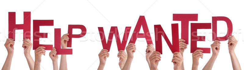 People Hands Holding Red Word Help Wanted  Stock photo © Nelosa