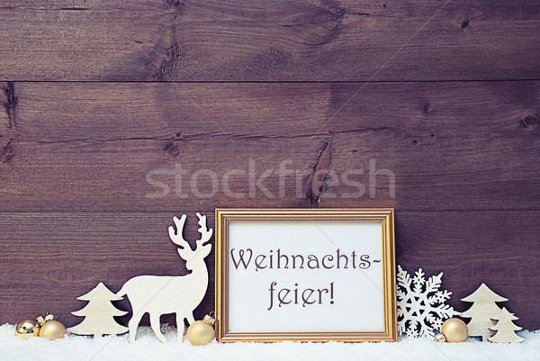 Vintage Card, Snow, Weihnachtsfeier Mean Christmas Party Stock photo © Nelosa
