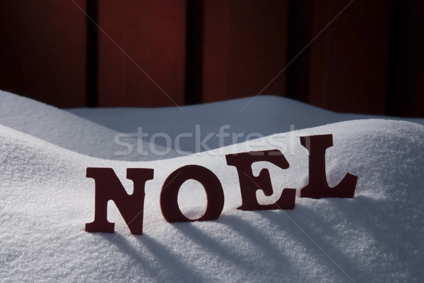 Card With Snow And Word Noel Mean Christmas Stock photo © Nelosa