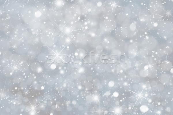 Grijs christmas bokeh sterren Blauw kleur Stockfoto © Nelosa