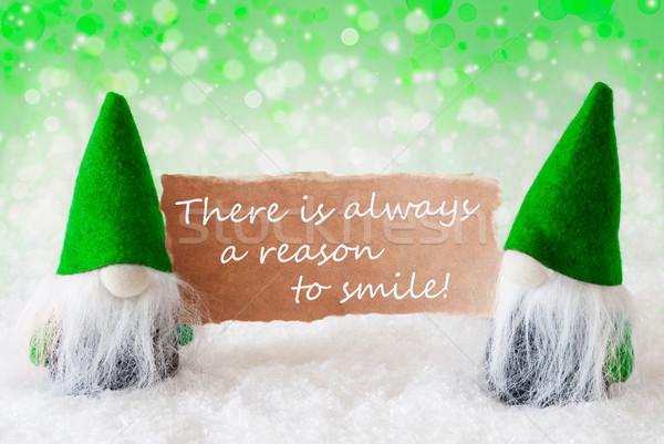 Verde naturalismo cartão citar sempre sorrir Foto stock © Nelosa