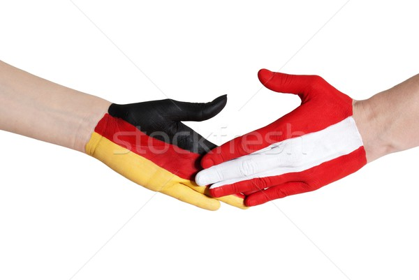 austria and germany shaking hands Stock photo © Nelosa