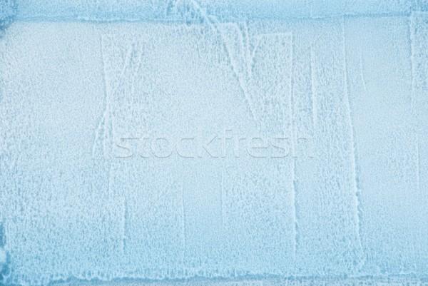 Jég textúra kocka fal háttér tábla Stock fotó © Nelosa