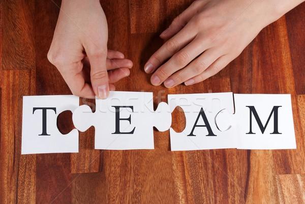 person puzzling TEAM Stock photo © Nelosa