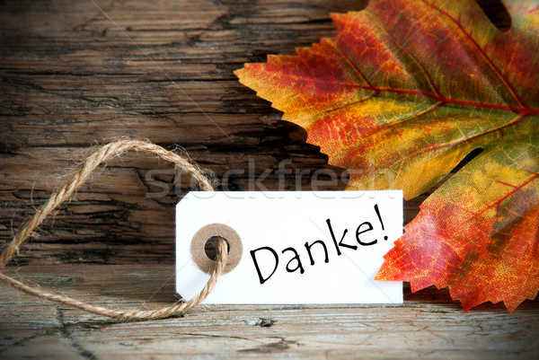 Autumn Label with Danke Stock photo © Nelosa