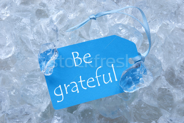 Label On Ice With Be Grateful Stock photo © Nelosa