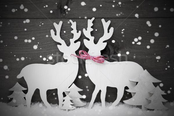 серый Рождества украшение северный олень пару любви Сток-фото © Nelosa