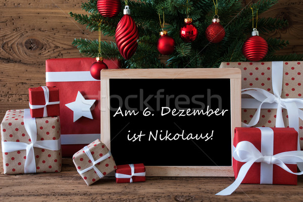Colorful Christmas Tree, Nikolaus Means Nicholas Day Stock photo © Nelosa