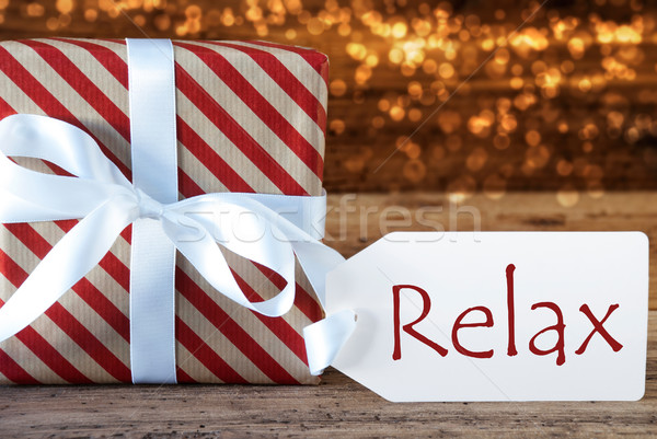 Atmospheric Christmas Gift With Label, Relax Stock photo © Nelosa