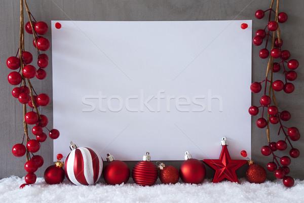 Etiket kar Noel metin merhaba Stok fotoğraf © Nelosa